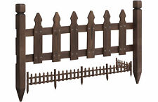 New ListingRustic Garden Border Fence Outdoor Pricket Fencing Edging Pool Fence Solid Wood