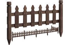 Rustic Garden Border Fence Outdoor Pricket Fencing Edging Pool Fence Solid Wood