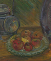 Mid 20th Century Oil - Plate of Apples