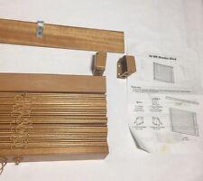 New Timber Venetian Blinds 50mm Basswood - Teak - 45 cm x 210 cm.~ $20.95