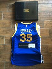 "KEVIN DURANT Signed Warriors Blue ""Finals MVP"" Inscribed Jersey PANINI LE 83/135"