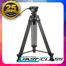 Cayer Carbon Fibre Camcorder Video Camera Tripod + Fluid head Kit 1.8M Height