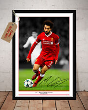 MO SALAH LIVERPOOL FC AUTOGRAPHED SIGNED FOOTBALL PHOTO PRINT