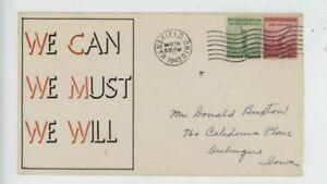 Mr Fancy Cancel WW II Patriotic We can We must we will 9903 '43 Cvr #3038