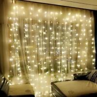 300 LED 3M Fairy Curtain String Lights Wedding Party Room Decor Holiday 8 Models