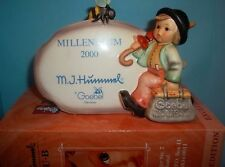 Hummel MERRY WANDERER Millennium Goebel Plaque/Sign 1998-Original Box MINTwCOA