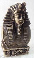 "Egypt Rare King Tut Head Face Pharaoh Figurine Statue Ancient 2.6"" Sculpture 201"