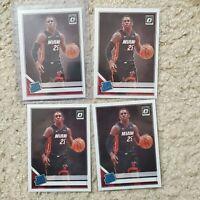 4x Lot Kendrick Nunn Rated Rookie RC Donruss Optic 2019-20 Miami Heat
