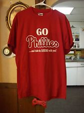 Mens L Go Phillies and take the sixers with you Shirt