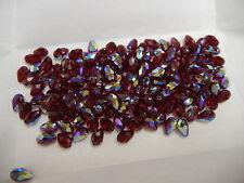 24 swarovski teardrop crystal beads,9x6mm siam AB #5500