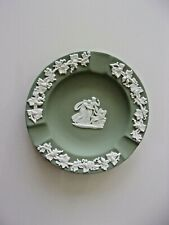 "Wedgwood Jasperware Scalloped Green Ashtray Size 4,5"" of diameter"