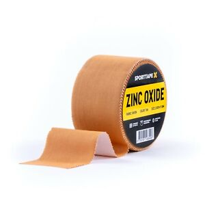 SPORTTAPE Zinc Oxide Tan Tape - 2 Sizes - Athletic Blister Tape (Single Roll)