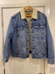Levi Denim Jacket Fleece Lined M