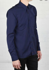 $170 New Apolis Global X-Large Merino Wool Button Under Oxford Shirt Bright Blie