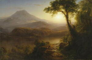 Frederic Edwin Church Tropical Scenery Poster Reproduction Giclee Canvas Print