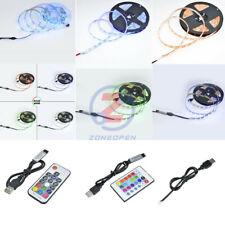 DC 5V SMD RGB 5050/2835 300 LEDS 5M Flexible Strip Light + Remote Controller