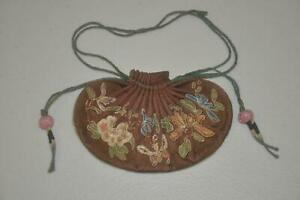 Antique Chinese Qing Dynasty Silk Pouch - 2