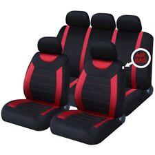 DACIA Logan Conjunto completo de cubierta de asiento de coche-Rojo y Negro Paño