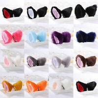 Girls Cat Ears Hair Clip Costume Cosplay Animal Hair Long Barrette Accessories