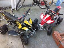 2 Mini Quad bikes 49cc 2stroke pit pocket racer no reserve