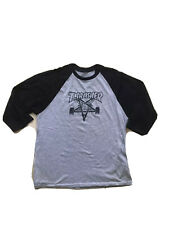 Thrasher Raglan T Shirt Size Medium Skate Goat Phelper Thrasher Magazine