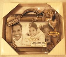 Fetco Pewter Picture Frame With Hanging Charm 3.5 X 5  NIB