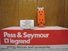 Pass & Seymour Hospital Grade Duplex Receptacle 15A Orange IG26262-HG NEW