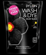 Dylon Wash and Dye - Velvet Black 350g Dyes Fabric as it Washes Restores Colours