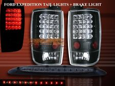 97 98 99 00 01 02 Ford Expedition LED Black Tail Lights + 3rd Brake Light Combo