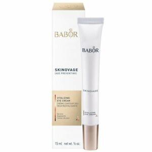 Babor Skinovage Vitalizing Eye Cream 15ml NEW/SEALED BOX