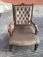 Antique Edwardian Grandfather's Chair
