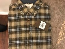 Weatherproof Vintage Men's Lightweight Flannel Shirts size large khaki