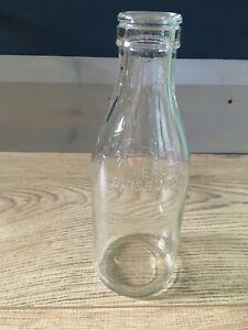Vintage Clear Glass Milk Bottles
