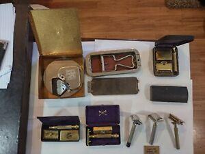 Vintage Razor Lot--Gillette; GEM; Ever-Ready; Rolls; and Kriss Kross Sharpener