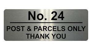 779 Personalised POST & PARCELS Metal Plaque Sign For Door House Gate Letters