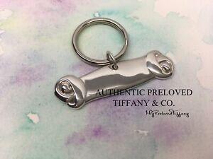 Excellent Vintage Authentic Tiffany & Co Large Dog Bone Collar Charm Keyring