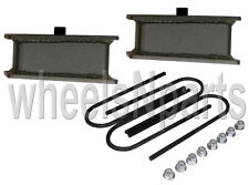 "4"" drop rear axle kit fabricated steel blocks ubolts for 1998-older import truck"
