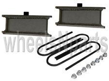 "4"" lowering blocks fab steel rear axle ubolts drop kit 1998-older import trucks"