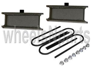 "3"" rear drop kit ubolts lowering blocks fab steel fits 1998-older import trucks"
