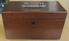 More details for antique edwardian mahogany tea caddy