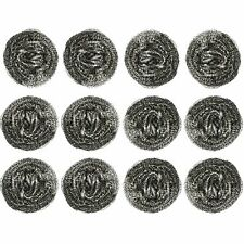 12 Pcs Stainless Steel Kitchen Cleaning Sponges Scouring Pad Steel Wool Scrubber