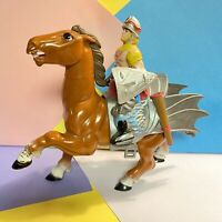 VINTAGE 1983 LJN ADVANCED DUNGEONS & DRAGONS AD&D HORSE TOY & Knight 1980S