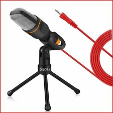 DISDIM PC Microphone, 3.5mm Jack Condenser Recording Microphone with Mic Stand f