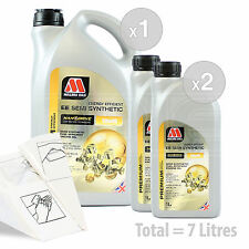 Car Engine Oil Service Kit / Pack 7 LITRES Millers NANODRIVE EE 10w-40 7L