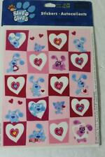 ONE Retired Heartline Blues Clues Heart Sticker Sheet BLUE MAGENTA -CUTE RARE!