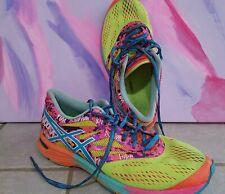 Asics Womens Sz 8 Gel Noosa Tri 10 Multicolor Running Shoes T580N Bright Neon