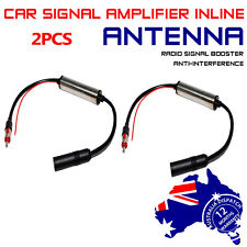 12V Auto Truck Ute Hidden Antenna Electronic FM/AM Radio Amplifier Pack of 2pcs