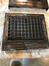J 14 antique cast-iron floor to wall mount heating grate 12.5 x 14