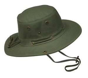 Misty Mountain Canvas Bosun Sun Hats with Snap Sides & Floating Brim S-XXL