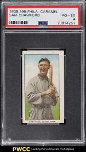 1909 E95 Philadelphia Caramel Sam Crawford PSA 4 VGEX